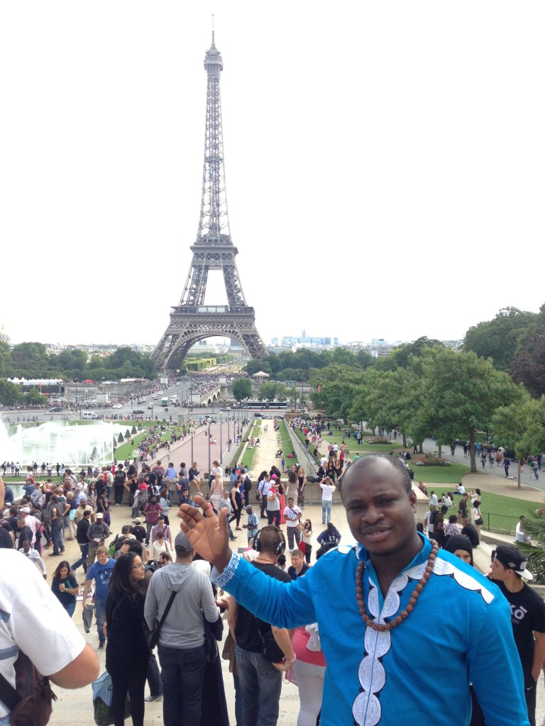Akesse Sanza at Eiffel Tower, Paris