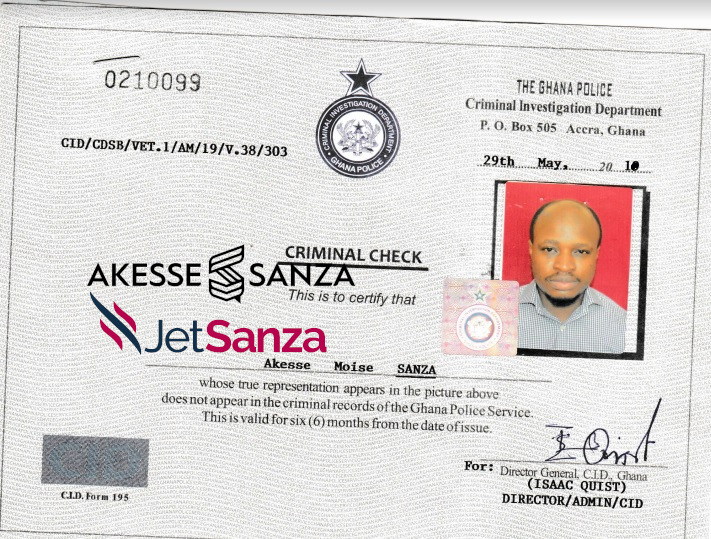Sample of Police Clearance Certificate
